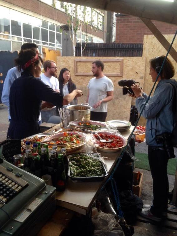 Filming in the Bee Garden 2015